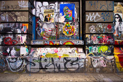 Bowery NYC Graffiti Royalty Free Stock Photo