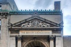Bowery Savings Bank - New York City Stock Photography