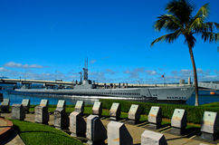 Bowfin in Pearl Harbor Stock Image