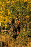 Bowhunter at Full Draw Royalty Free Stock Image
