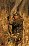 Bowhunter at Full Draw Royalty Free Stock Photography