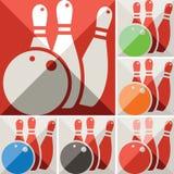 Bowiling icons Stock Image