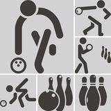 Bowiling icons Stock Photos