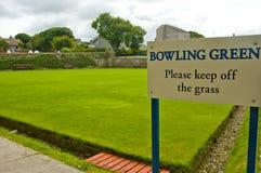Bowilng gräsplanvarning Arkivfoton