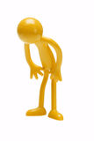 Bowing rubber toy figurine Royalty Free Stock Photos