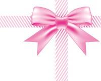 Bowknot rosado Fotos de archivo libres de regalías