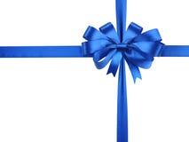 Bowknot van blauw lint. Royalty-vrije Stock Afbeelding