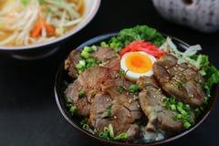 Bowl  da carne de porco Imagem de Stock Royalty Free
