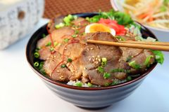 Bowl  da carne de porco Foto de Stock Royalty Free