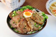 Bowl  della carne di maiale Immagini Stock