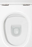 Bowl. White bowl in the toilet stock images