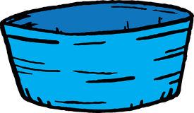 Bowl. Hand drawn illustration of a bowl Royalty Free Stock Image