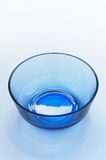 Bowl. A picture of a blue glass bowl Stock Images