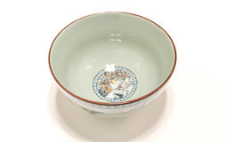 China ceramics Bowl. A small bowl on a white background Royalty Free Stock Image