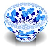 Bowl. A vector, illustration for a China porcelain, pottery, bowl Royalty Free Stock Images