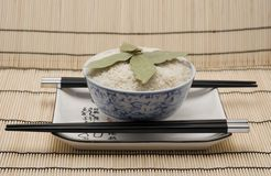 Bowl. Of rice Stock Images