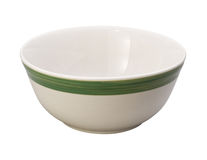 Bowl. Ceramic bowl isolated on a white background. Isolation is on a transparent layer in the PNG format stock image