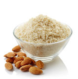 Bowl of almond flour Stock Photography