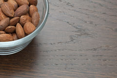 Bowl of almond nuts Royalty Free Stock Photo