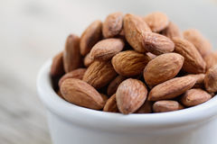 Bowl of Almond Nuts Stock Photography