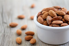 Bowl of Almond Nuts Stock Photos