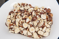 Bowl of almond nuts snack food Stock Photos