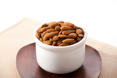 Bowl of almonds Royalty Free Stock Photos