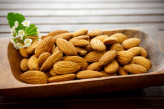 Bowl of Almonds Stock Image