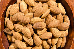 Bowl of almonds closeup. Image of some almonds in a bowl Royalty Free Stock Photo