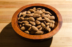 Bowl of almonds. Image of some almonds in a bowl Royalty Free Stock Images