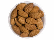 Bowl of Almonds Royalty Free Stock Image