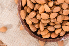 Bowl with Almonds Royalty Free Stock Photo