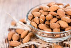 Bowl with Almonds Stock Images