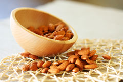 Bowl of almonds. Selective focus Royalty Free Stock Photo