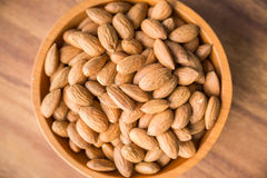 Bowl of Almonds Stock Photography