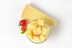 Bowl And Wedge Of Parmesan Cheese Royalty Free Stock Image