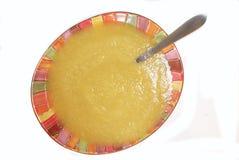 Bowl of Applesauce Stock Photo
