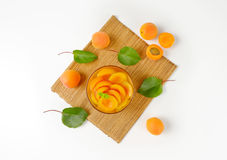 Bowl of apricot compote Royalty Free Stock Image
