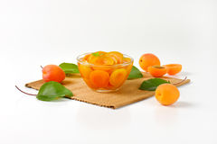 Bowl of apricot compote Stock Photos