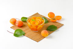 Bowl of apricot compote Stock Image