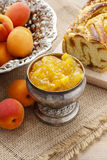 Bowl of apricot jam Royalty Free Stock Image