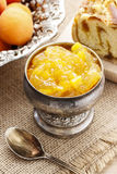 Bowl of apricot jam Royalty Free Stock Photo
