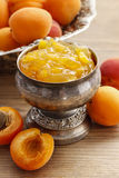 Bowl of apricot jam Stock Photo