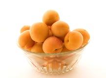 Bowl apricots stock photo