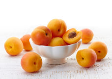 Bowl of apricots Royalty Free Stock Photo