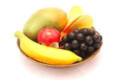 Bowl of artificial fruit Stock Photography
