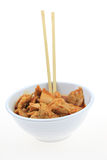 Bowl of Asian Chicken Stock Image