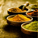 Bowl of Asian curry powder Stock Photo