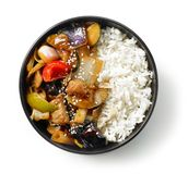 Bowl of asian food royalty free stock images