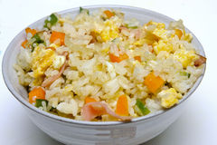 Bowl of asian fried rice Royalty Free Stock Photo